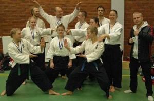 Iloinen joukkueemme SM kisoissa Keravalla.